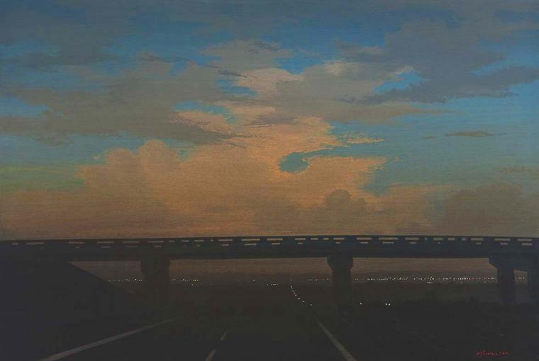 Bridge, Acrylic on board, 2010