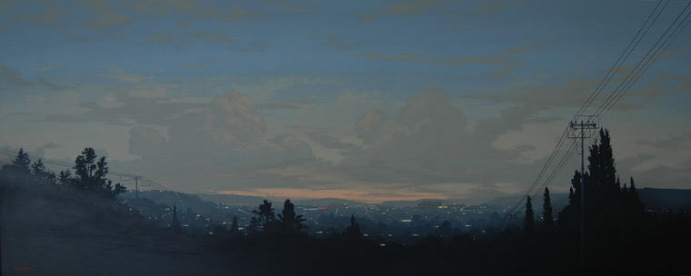 Outskirts Hill view I, 2009, Acrylic on board