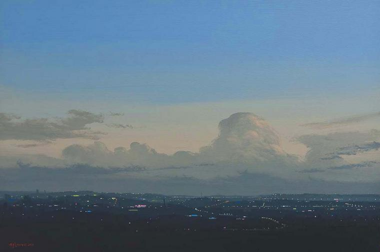View after the Rain II, Acrylic on board, 2010