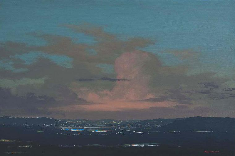 View after the Rain I, Acrylic on board, 2010